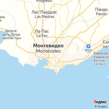 Карта Монтевидео