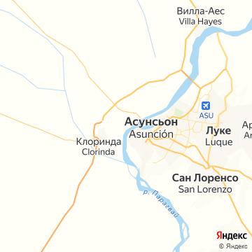 Карта Асунсьона