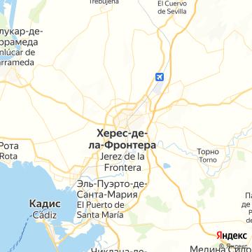 Карта Хереса-де-ла-Фронтеры