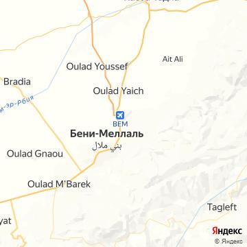 Карта Бени Меллала