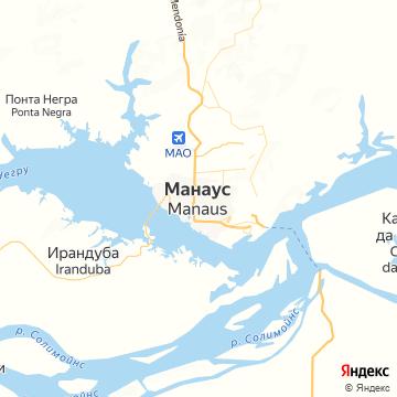 Карта Манауса