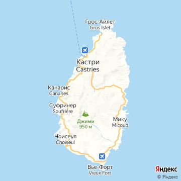 Карта Сента-Люсии
