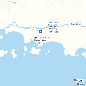 Карта Гавра Сен-Пьер