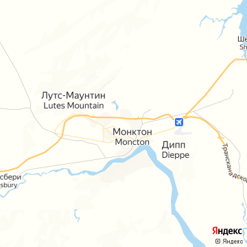 Карта Монктона