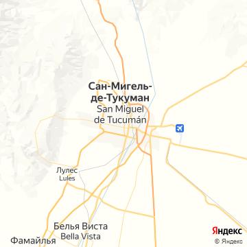 Карта Тукумана