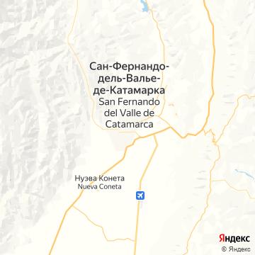 Карта Катамарки