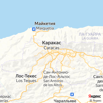 Карта Каракаса