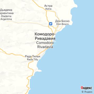 Карта Комодоро-Ривадавиа