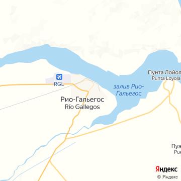 Карта Рио-Гальегоса