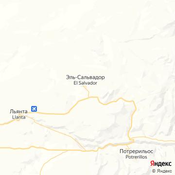Карта Эль-Сальвадора