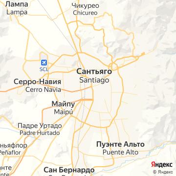 Карта Сантьяго