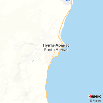 Карта Пунты-Аренаса