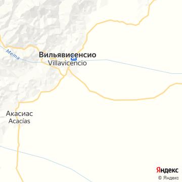 Карта Вильявисенсио