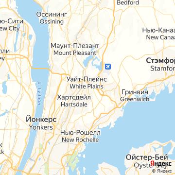 Карта Уайта Плеинс