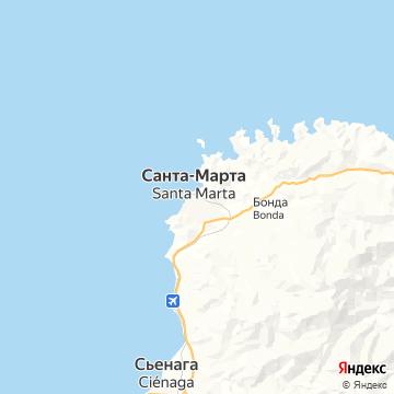 Карта Санта-Марты