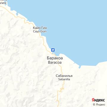 Карта Баракоа