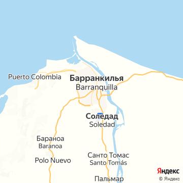 Карта Барранкуиллы