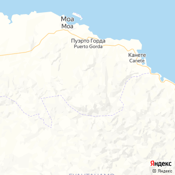 Карта Моа Куба