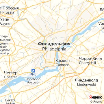 Карта Филадельфии