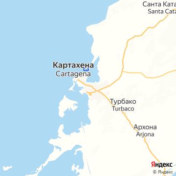 Карта Картегены