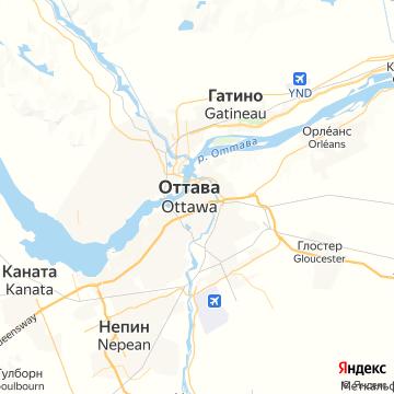 Карта Оттавы