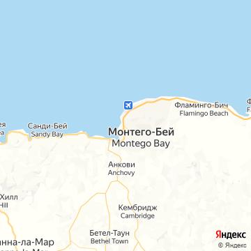 Карта Монтего Бэй