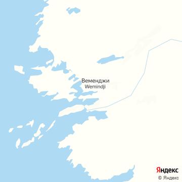 Карта Wemindji