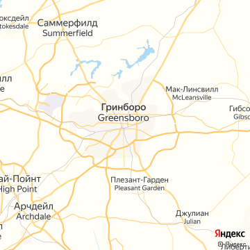 Карта Гринсборо