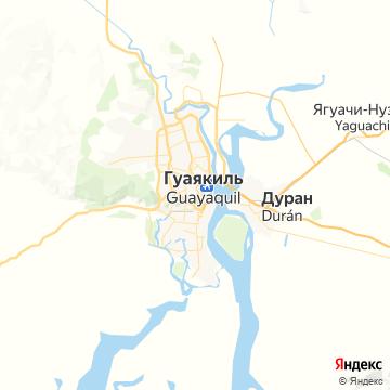 Карта Гуайяквила