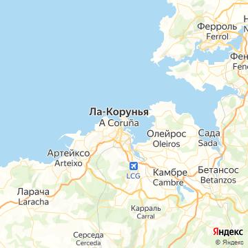 Карта Ла-Коруньи