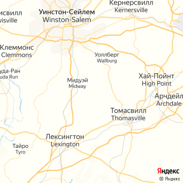 Карта Томасвилла