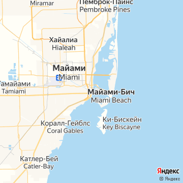 Карта Майами