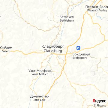 Карта Кларксбурга