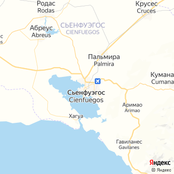 Карта Сиенфуэгоса