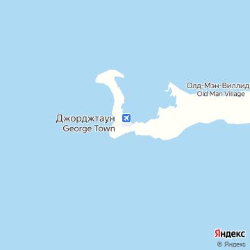 Карта Большого Каймана