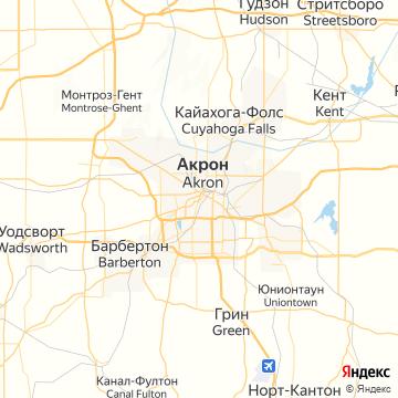 Карта Акрона