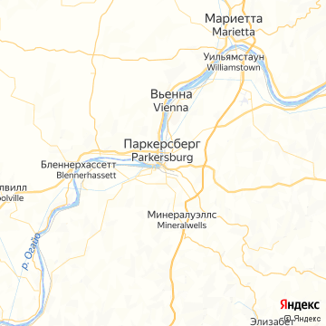 Карта Паркерсбурга