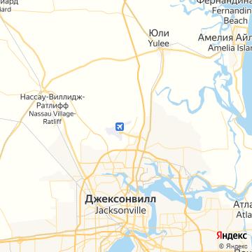 Карта Джексонвилла