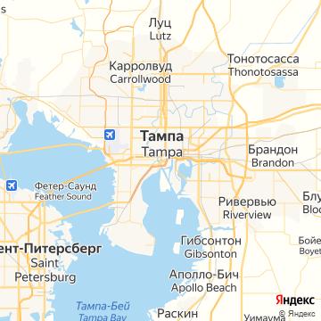 Карта Тампы