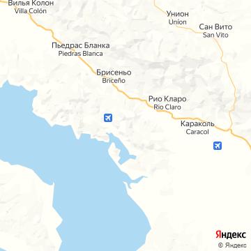 Карта Голфито