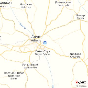Карта Атенса