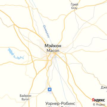 Карта Макона