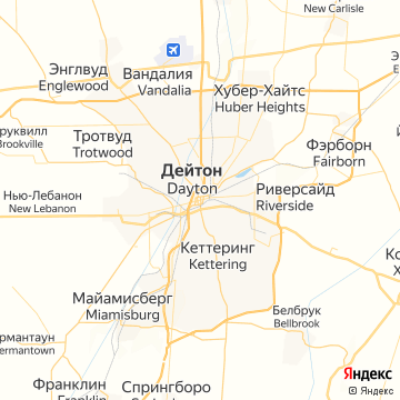 Карта Дейтона