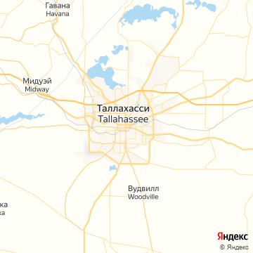 Карта Таллахасси
