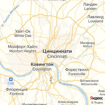 Карта Цинциннатей