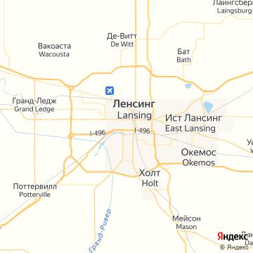 Карта Лансинга