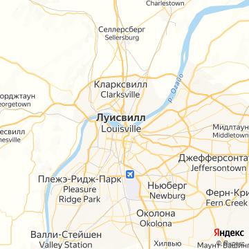 Карта Луисвилля