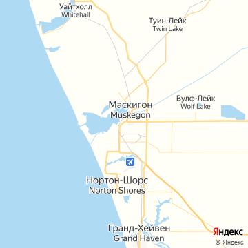 Карта Маскегона