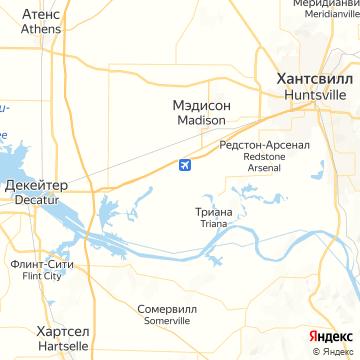 Карта Хантсвилля