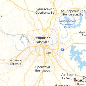 Карта Нашвилла